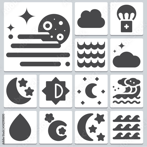 Fototapeta Ninety icons set ? simple set of 13