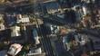Santiago De Chile, Spinning Birdseye Aerial View of Street Traffic on Intersection in Modern Neighborhood