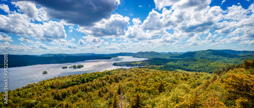 Fulton Chain Lakes view from the Adirondack Mountains in Upstate New York Canvas Print