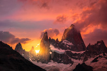 Mount Fitz Roy In Patagonia Ar...