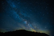 A fabulous starry sky with the Milky Way, a screensaver for astrology, astronomy and horoscopes and zodiacs. A clear starry sky