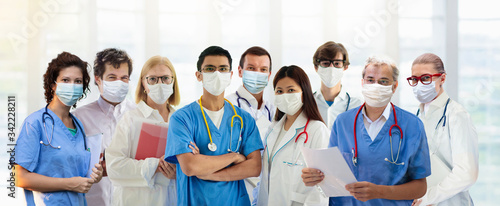 Fotografiet International doctor team. Hospital medical staff.