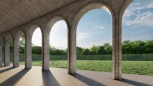Contemporary Arch Corridor Wit...