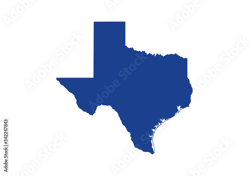 Texas State Map. Vector Design illustration Tablou Canvas