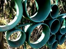 Close-up Of Green Circles
