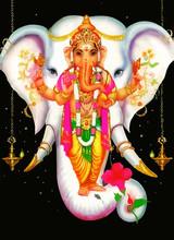 God Ganesha Hindu White Holy I...