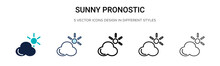 Sunny Pronostic Icon In Filled...