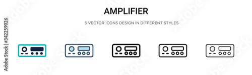 Tela Amplifier icon in filled, thin line, outline and stroke style