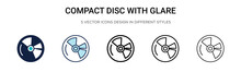 Compact Disc With Glare Icon I...
