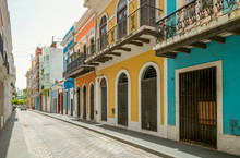 Colorful Houses In Old San Jua...