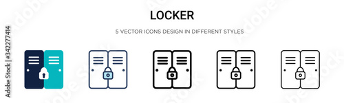 Fototapeta Locker icon in filled, thin line, outline and stroke style