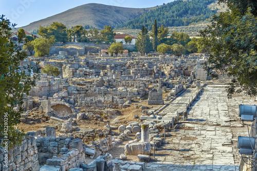 Fotografia, Obraz Ruins of Ancient Corinth, Greece