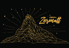 Matterhorn Zermatt Switzerland Background Vector