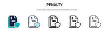 Penalty Icon In Filled, Thin L...