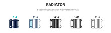 Radiator Icon In Filled, Thin ...