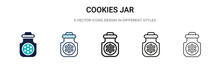 Cookies Jar Icon In Filled, Th...