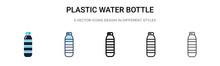Plastic Water Bottle Icon In F...