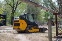Small Crawler Excavator With Rubber Tracks.