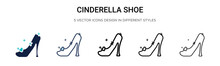 Cinderella Shoe Icon In Filled...