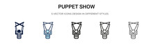 Puppet Show Icon In Filled, Th...