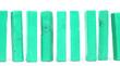 Leinwanddruck Bild - Vintage green building blocks isolated on white