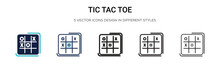 Tic Tac Toe Icon In Filled, Th...