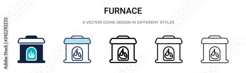Photo Furnace icon in filled, thin line, outline and stroke style