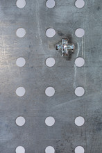 Perforated Steel Surface Of The Welding Table