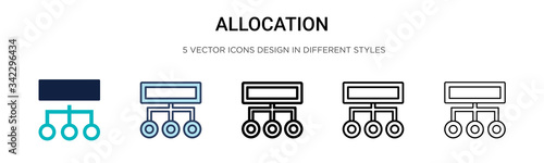 Photo Allocation icon in filled, thin line, outline and stroke style
