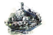 Old Steam Locomotive Engine Re...