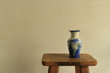 Vintage Empty Ceramic Vase Wit...