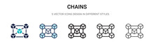 Chains Icon In Filled, Thin Li...