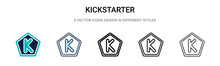 Kickstarter Icon In Filled, Th...