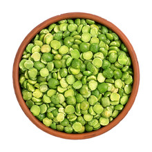 Dry Split Green Peas In A Bowl...