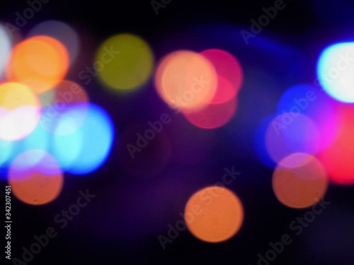 Colorful ambient light patterns Wallpaper Mural