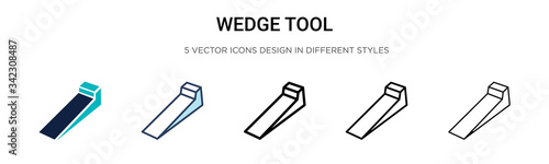 Fotografija Wedge tool icon in filled, thin line, outline and stroke style