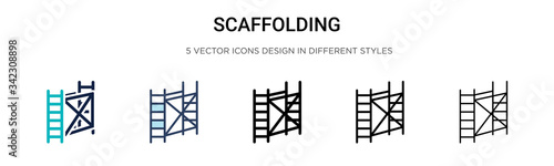 Fotografie, Obraz Scaffolding icon in filled, thin line, outline and stroke style