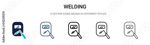 Fotografia Welding icon in filled, thin line, outline and stroke style