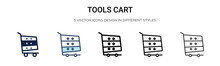 Tools Cart Icon In Filled, Thi...