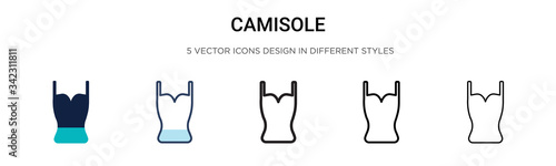 Fototapeta Camisole icon in filled, thin line, outline and stroke style