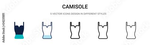 Fotografia, Obraz Camisole icon in filled, thin line, outline and stroke style