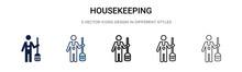 Housekeeping Icon In Filled, T...