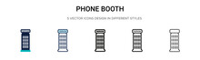 Phone Booth Icon In Filled, Th...