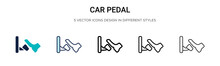 Car Pedal Icon In Filled, Thin...