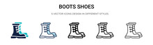 Boots Shoes Icon In Filled, Th...