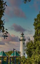 A White Brick Lighthouse Past ...