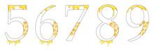 Watercolor Numbers Honey Set 2...