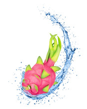Whole Dragon Fruit In Water Sp...
