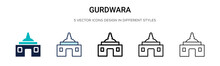 Gurdwara Icon In Filled, Thin Line, Outline And Stroke Style. Vector Illustration Of Two Colored And Black Gurdwara Vector Icons Designs Can Be Used For Mobile, Ui, Web