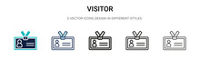 Visitor Icon In Filled, Thin L...